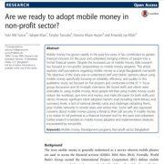آیا آمادهی پذیرش پول موبایلی در بخش غیر انتفاعی هستیم؟