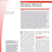 بررسی آزاد سازی آرتروسکوپی برای درمان آرتروفیبروز زانو