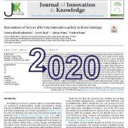 ارزیابی عوامل موثر بر سیاست و خط مشی نوآوری در بیوتکنولوژی