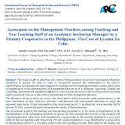 ارزیابی  شیوه های مدیریتی در میان کارکنان آموزشی و غیر آموزشی