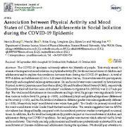 ارتباط و همبستگی بین فعالیت بدنی (تحرک) و خلق و خوی