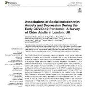 ارتباط  انزوای اجتماعی با اضطراب و افسردگی در طی  اوایل  همه گیری کوید-۱۹
