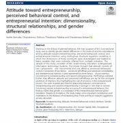 نگرش به کارآفرینی، کنترل رفتاری درک شده و قصد کارآفرینی