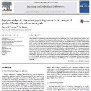 تحلیل بیزی در تحقیقات روان شناسی آموزشی:تفاوتهای جنسیتی