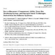 استفاده از زنبورهای عسل به عنوان بیوسنسور: توانایی سنجش شیمیایی