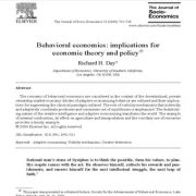 اقتصاد رفتاری: یادداشت روش شناسی