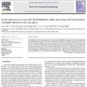 گوگرد زدایی زیستی زغال سنگ با Acidithiobacilluscaldus
