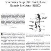 طراحی بیومکانیکی اگزو اسکلتون اندام تحتانی برکلی((BLEEX))