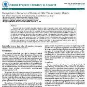 عوامل و فاکتورهای بیوسنتتیک اسانسها: گیاهان آروماتیک (معطر)