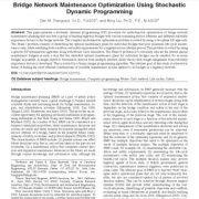 بهینه سازی نگه داری شبکه پل با استفاده از برنامه نویسی تصادفی پویا