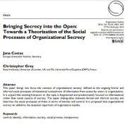 افشای راز و سر: به سمت نظریه پردازی پروسههای اجتماعی مربوط به عدم افشا