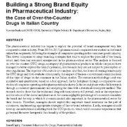ایجاد ازش ویژهی برند قوی در صنعت داروسازی: مطالعهی موردی