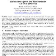 هوش کسب و کار (تجاری) و پیاده سازی آن در یک شرکت کوچک