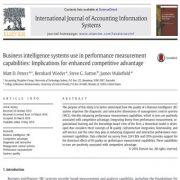 استفاده از سیستم هوش تجاری در قابلیت اندازه گیری عملکرد: مزیت رقابتی