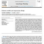 مدلهای کسبوکار و طراحی سازمان