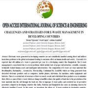 چالشها و راهبردهای مدیریت پسماند الکترونیکی در کشورهای در حال توسعه