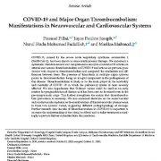 "<span itemprop=""name"">کوید۱۹(COVID-19) و  ترومبوآمبولی  اندام اصلی: تظاهرات و علایم در سیستم های قلبی عروقی</span>"