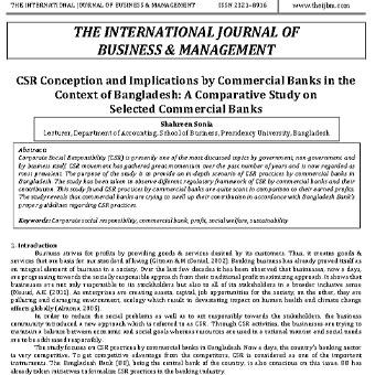 مفهوم CSR و اهمیت آن برای بانک های تجاری در زمینه بنگلادش