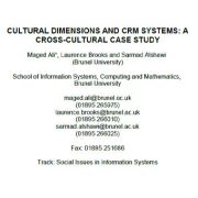 ابعاد فرهنگی و سیستمهای مدیریت ارتباط با مشتری: مطالعه موردی فرافرهنگی