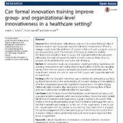 آموزش رسمی نوآوری موجب افزایش نوآوری و ابتکار
