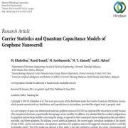 مدل های ظرفیت کوانتوم و آماری مواد معلق در نانو اسکرول گرافن