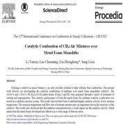 اشتعال کاتالیستی ترکیب متان/ هوا در مونولیت های فوم فلزی