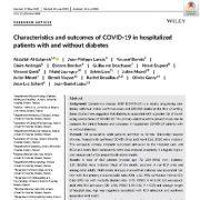 ویژگیها و پیامد های COVID-19 در بیماران بستری در بیمارستان و بدون دیابت