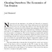 خود فریبی: اصول اقتصادی فرار مالیاتی
