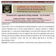 رویکرد شیمی سنجی (کمومتریکس) در تجزیه و تحلیل دارو – یک مقاله مروری