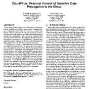 فیلتر ابر(CloudFilter): کنترل عملی  تکثیر و  انتشار داده های حساس به ابر