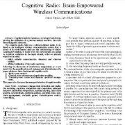رادیو شناختگر: ارتباطات بی سیم قدرت مغزی