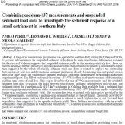 ترکیب اندازه گیری های سزیم ۱۳۷ و دادههای بار رسوب معلق