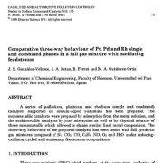رفتار سه سویه فازهای ترکیبی و جداگانه پلاتینوم، پالادیوم و رادیوم