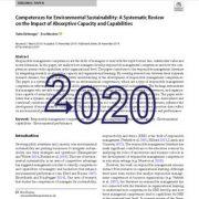 قابلیتهای پایداری زیست محیطی: مرور منابع جامع در خصوص تأثیر ظرفیت
