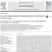 پایداری زمانی همزمان هدایت الکتریکی ظاهری و مقدار آب خاک