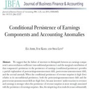 ثبات مشروط مولفه های سود و ناهمسانی های حسابداری