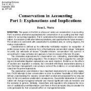 محافظه کاری در حسابداری:  بخش اول: توضیحات و پیامدها