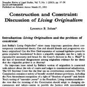ساخت و محدودیت: بحث منشاگرایی (اصالت گرایی) زیستن