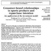 "<span itemprop=""name"">روابط  برند-مصرف کننده در محصولات ورزشی و قصد بازخرید</span>"