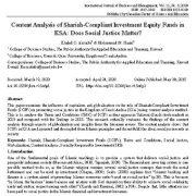 تحلیل محتوای صندوق های سرمایه گذاری مطابق با شرع در KSA: آیا عدالت اجتماعی مهم است ؟