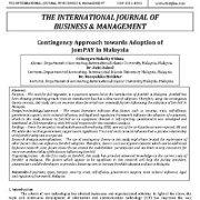 رویکرد احتمالی یا اقتصایی نسبت به پذیرش JomPAY در مالزی