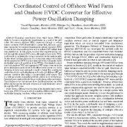 کنترل هماهنگ مزارع بادی ساحلی و مبدل HVDC برای میرایی نوسان برق