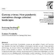 جرایم  کروناویروس:  روایت های همه گیری ,تغییر چشم انداز  جنایی(کیفری)