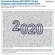 کرونا ویروس ۲۰۱۹ (COVID-19) و بارداری: آنچه متخصصان زنان باید بدانند