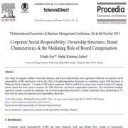 مسئولیت اجتماعی شرکت: ساختارهای مالکیت ، ویژگی هیئت مدیره