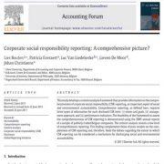 گزارش دهی در خصوص مسئولیت اجتماعی شرکت ها: یک چشم انداز فراگیر؟
