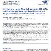 بررسی ارتباط و همبستگی مارکرهای سلولهای بنیادی سرطانی OCT4, SOX2,