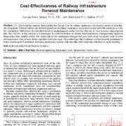 مقرون به صرفه بودن نگه داری و نوسازی زیرساخت راه آهن