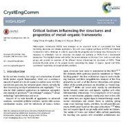 عوامل مهم مؤثر بر ساختارها و خواص چارچوبهای فلزی-آلی