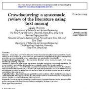 جمع سپاری:مرور منابع سیستماتیک با استفاده از متن کاوی
